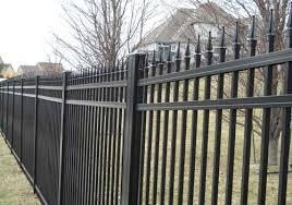 kansas city residential ornamental metal fencing guier fence