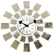 Mid Century Modern Wall Mirror George Nelson Reflections Mid Century Modern Mirror Wall Clock