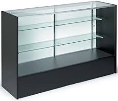 display cabinet with glass doors amazon com 5ft glass display cabinet with sliding door height