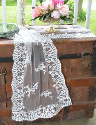 decor lace table runners burlap and lace wedding table runners