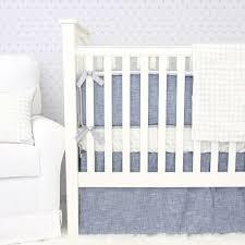 Denim Crib Bedding Stuart S Denim Silver Baby Bedding Caden