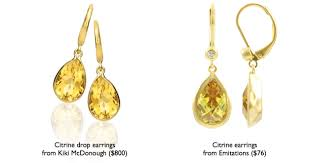 mcdonough citrine drop earrings pretty in citrine pretty in kate