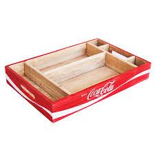 coca cola wood crate desk organizer tray sunbelt gifts wholesale
