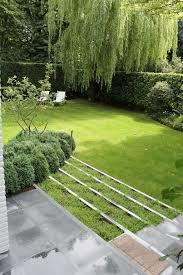 Backyard Steps Ideas Exterior Fresh Green Backyard Garden Design Showing White Lounge