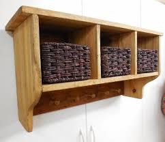 rustic storage shelf primitive shaker coat rackfarmhouse