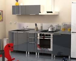 cuisine gris laque cuisine complète 240 cm gris laqué amazon fr cuisine maison