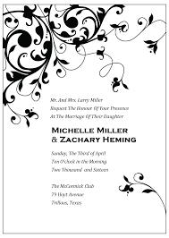 pdf wedding invitations black flourish wedding invitation