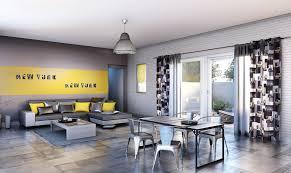 deco chambre jaune chambre grise et jaune idées de décoration capreol us