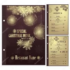 vector restaurant christmas menu design template u2014 stock vector