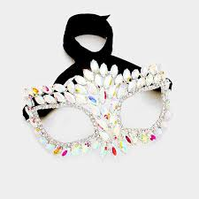 silver masquerade masks for women drina marquise cluster masquerade mask ab silver