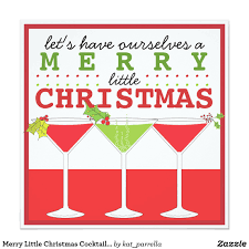 merry little christmas cocktail party invitation three festive