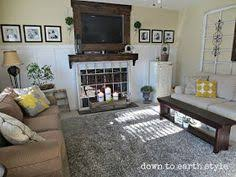 down to earth style wall color of her living room carrington