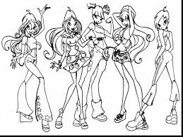 good winx club coloring pages with winx coloring pages