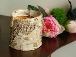 Cylinder Vases Wedding Centerpieces Small Natural Birch Bark Cylinder Vases Wedding Flower Pot