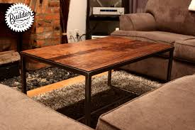 coffee tables simple high angle logo industrial coffee table how