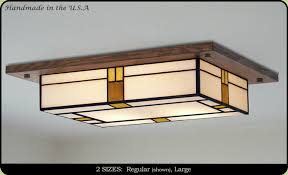 Kitchen Ceiling Light Fixtures If You Have Low Ceilings Here Is A Great Decorative Mission Style
