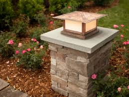 Patio Kitchen Patio Kitchen Ideas Stone Pillar Lighting Stone Driveway Pillars