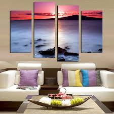 direct selling home decor direct selling 4 panels modern home decoration canvas printings