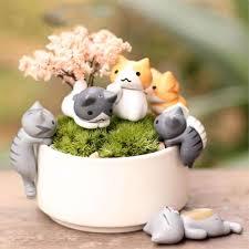 home decor pieces miniature home decorative cats 6 pieces thepurrshop