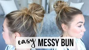 hair buns for hair easy bun tutorial thin hair