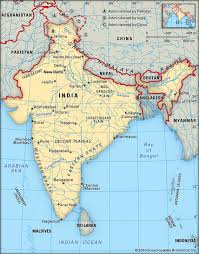 India Physical Map by Geography M2 Humanities Four Great Ancient Civilizations