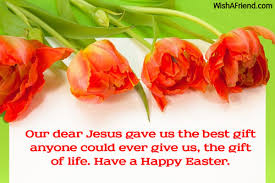 happy easter dear our dear jesus gave us the easter message