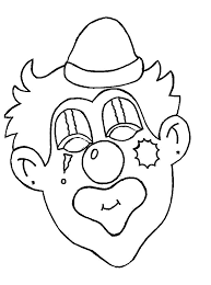 clown coloring pages clip art library