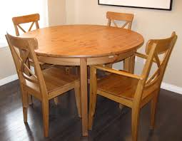 Round Dining Table With Hidden Chairs Round Hideaway Table Starrkingschool