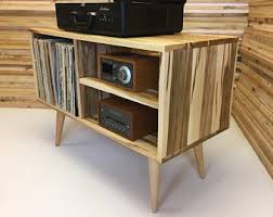 mid century console cabinet new mid century modern record player console turntable stand