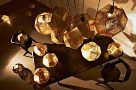 interior tom dixon etch brass pendant lighting for cool living
