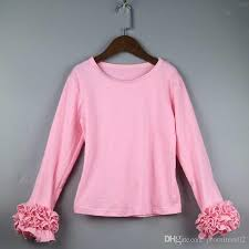 ruffle girl 2017 ruffle shirts for kids ruffle bottom solid shirts