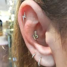 earrings all the way up 1 4 diamond eternity ring earlobe earrings