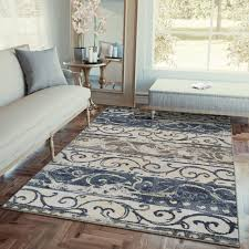 Rugs Modern Transitional Rug Navy Blue Transitional Modern Carpet