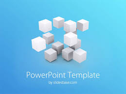 3d cubes powerpoint template slidesbase