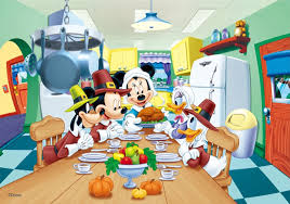 mickey mouse minnie donald goofy thanksgiving 3d