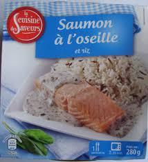 saumon à l oseille et riz la cuisine des saveurs 280 g même