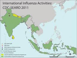 regional map of asia who south east asia region sear 2011 2012 b error processing ssi
