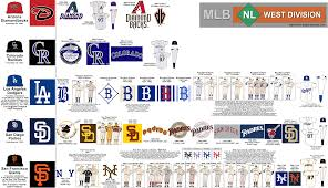 Diamondbacks Stadium Map Major League Baseball The National League West Map And Chart