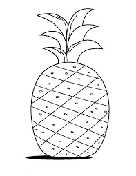 a kids drawing of pineapple coloring page download u0026 print