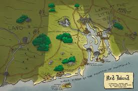 Rhode Island On Map Red Island A Toponymic Fantasy Map Of The State Of Rhode Island