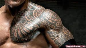 Chest And Half Sleeve - cool tribal on chest and left half sleeve viewer com