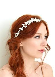 white flower headband white flower crown dainty crown bridal leaf headband whimsical