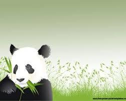 Free Panda Powerpoint Template Tema Untuk Ppt