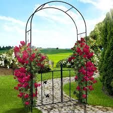 metal garden archway home outdoor decoration