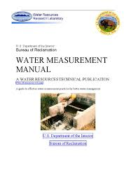 usbr water measurement manual ch7 water resources flow measurement