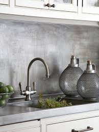 metallic kitchen backsplash 15 chic metallic kitchen backsplash ideas shelterness