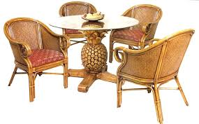 Bamboo Dining Table Set Bamboo Dining Room Furniture Indoor Rattan Table