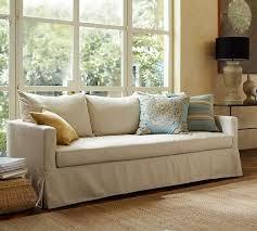 pottery barn sofa bed pottery barn catalina slipcovered sofa with bench cushion down