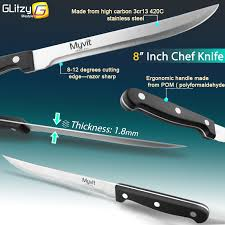 kitchen knives high carbon stainless steel 3 5 5 8 inch 3 piece