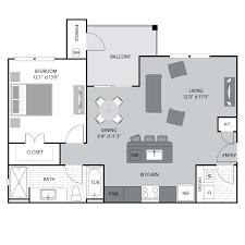 image of floor plan 1 2 bedroom apartments in foothills of barton creek tx